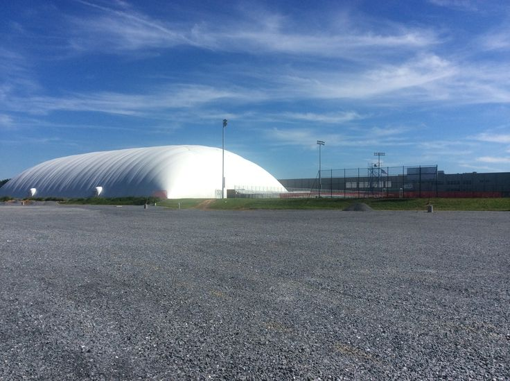 And The Air Dome In Daylight Spooky Nook Sports Spooky Nook Old Warehouse