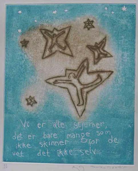 """""""Vi er alle stjerner """". Bjørg Thorhallsdottir"""