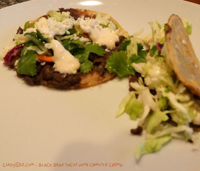 Black Bean Tacos with Chipotle Crema | From the Kitchen of LindySez ...