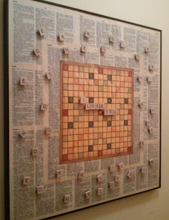 A different Scrabble Board Project than the one I made already.  I like the gameboard center.