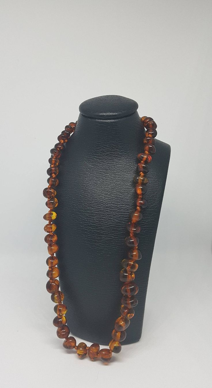 """Baltic Amber teething necklace for girls and boys ~13"""";Polished Caramel color, it can be perfect Christmas present, Christmas card included, and the very good valued! http://etsy.me/2z4TLpc"""