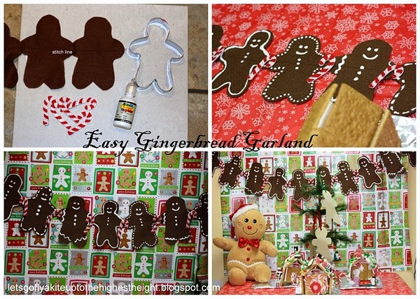 DIY Gingerbread GarlandChristmas 2012 2013, Christmas Crafts, Crafts Ideas, Celebrities Christmas, Diydecor Ideas, Gingerbread Garlands, Felt Gingerbread, Christmas Ornaments, Lets Go