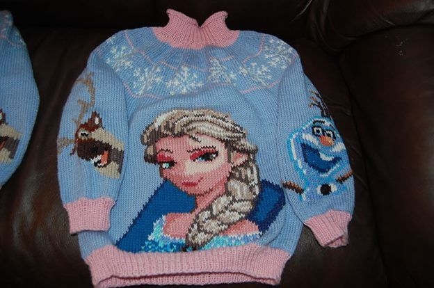 Strikket Frost genser Knitted Frozen Sweater