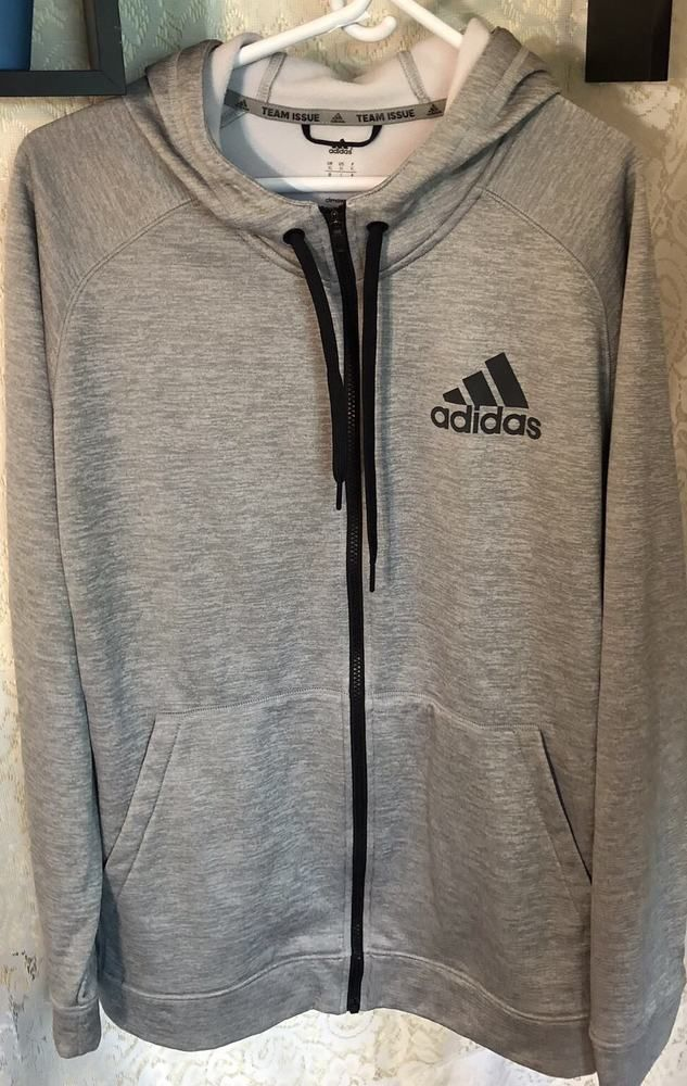 63d18a00 NWOT Men's ADIDAS Team Issue ClimaWarm Full-Zip Hoodie Jacket Size XL Grey # adidas #FullZipHoodie