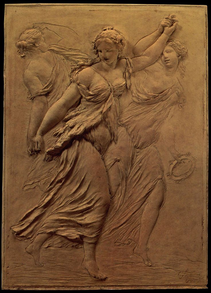 Claude Michel, called Clodion — Relief with Dancing Maenads 1765
