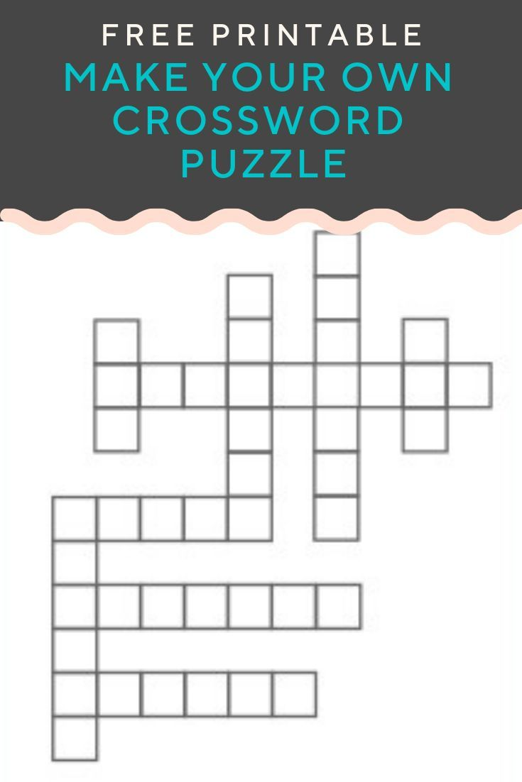 Crossword Puzzle Generator Create And Print Fully Customizable Puzzles With This Free Generato Crossword Puzzle Crossword Puzzle Maker Kids Crossword Puzzles