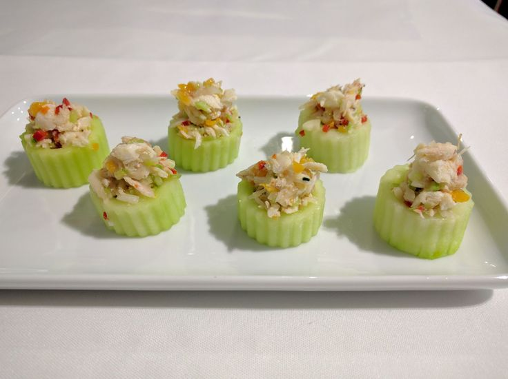Cucumber Cups filled with Sea Bream