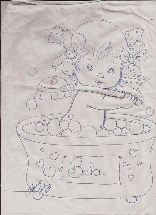 Pintura em tecido   para bebês   riscos   com nome