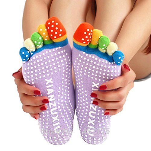 Top Quality 5 Toes Cotton Yoga Socks Exercise Sports Pilates Massage non-slip Sock Toe Five Fingers Girl Female Women Ladies * undefined