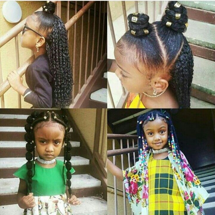 Black Little Girls Hairstyles little girl hairstyles braids pony tail up do kids girl black lil girl hairstyles braids black Follow Badgalronnie Cute Little Girl Hairstylesblack