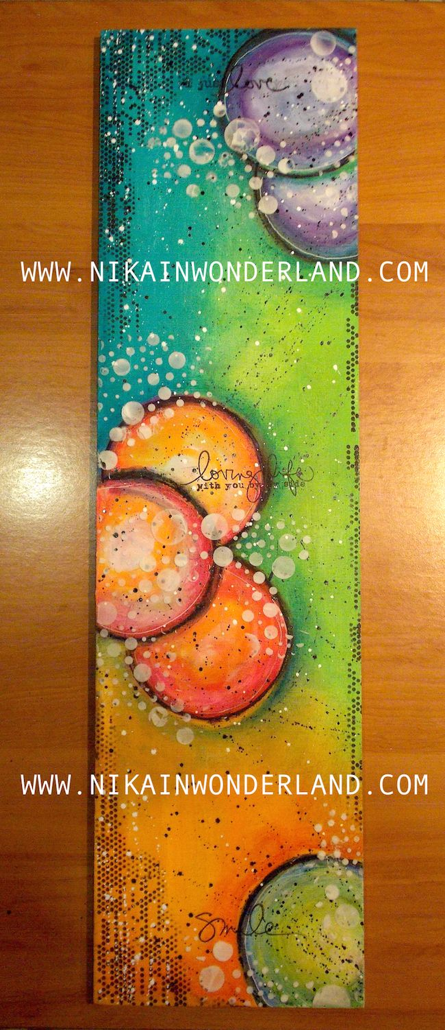 MIXED MEDIA PAINTING ON WOOD – NIKA IN WONDERLAND Mixed Media Art Tutorials