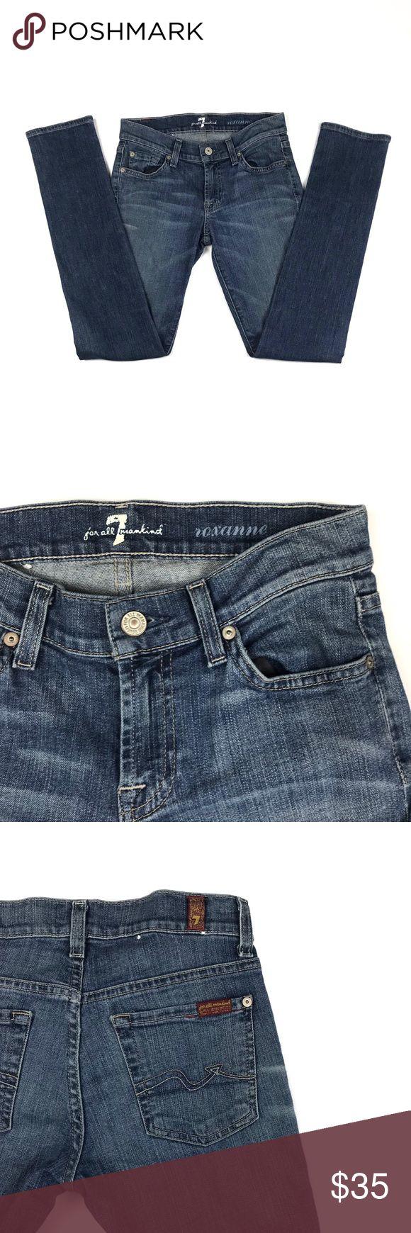 7FAM Roxanne skinny 24 Beautiful 7FAM Roxanne skinny jeans in a size 24 7 For All Mankind Jeans Skinny