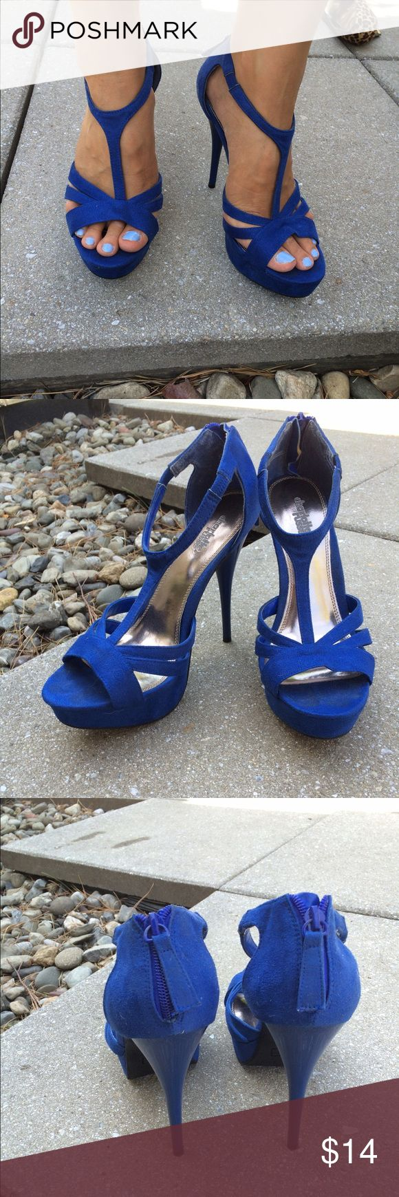"Royal Blue Heels Royal Blue heels from Charlotte Russe. The heel is 5"" with a 1"" platform which makes super comfy to walk in while remaining cute. Good condition, only worn a few times! Charlotte Russe Shoes Heels"