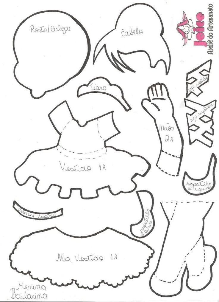 Moldes de bailarinas en foami - Imagui