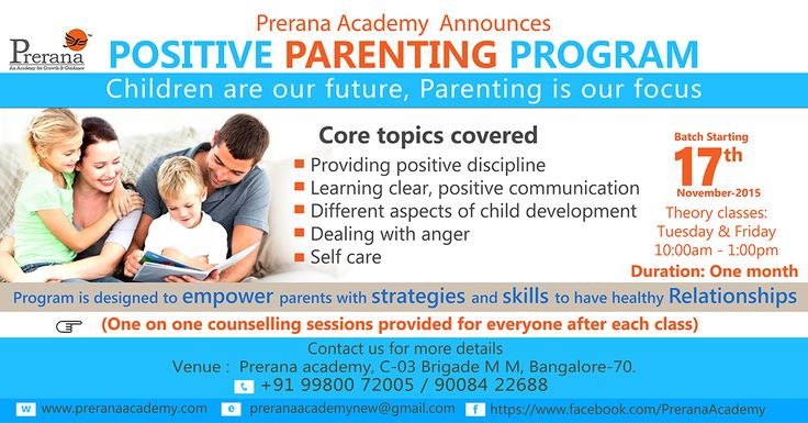 This November, Join #PositiveParenting.. See the image for more details!
