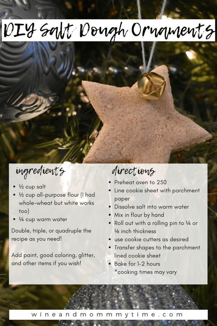 Basic Salt Dough Ornament Recipe Salt Dough Ornaments Food Ornaments Dough Ornaments