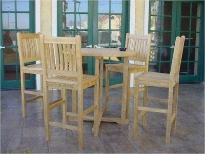 Anderson Teak Bahama Bar Set W/ Avalon Bar Chairs By Anderson Teak.  $2619.00.