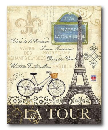 Take a look at this Bicycle La Tour Wall Art by COURTSIDE MARKET on #zulily today!