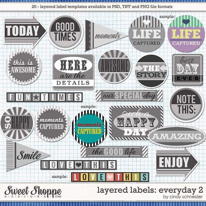 Cindy's Layered Labels: Everyday 2 by Cindy Schneider
