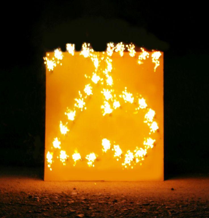 """Lichterbild """"Brennende Zahl 25"""" ein tolles Geschenk zur Silberhochzeit :-)"""