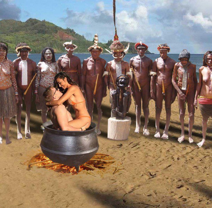 Chica pidió ayuda para que quitaran una isla con photoshop