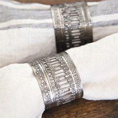 Pom Pom at Home Victorian Napkin Ring Set of 4 POMDHB9264