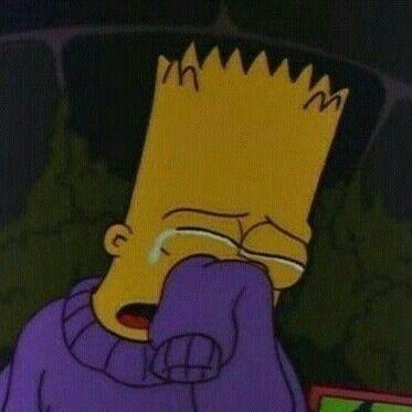 Sad Cartoon   Crying / Sad Bart   Simpsons