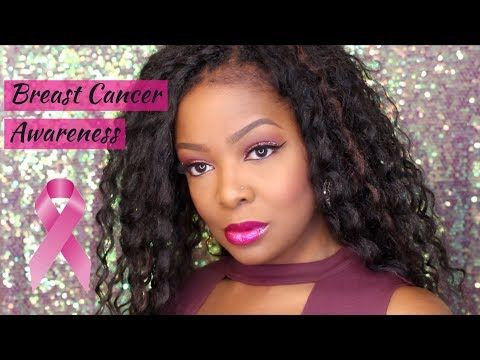 Breast Cancer Awareness Makeup Look - YouTube