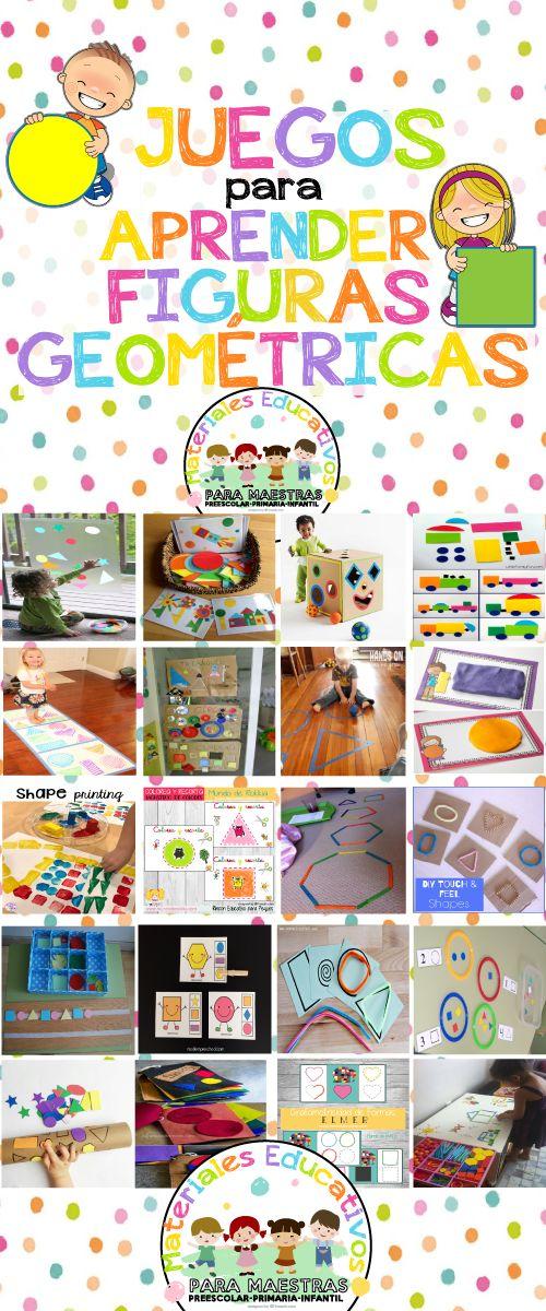 20 Juegos para Aprender las Figuras Geométricas | Materiales Educativos para Maestras