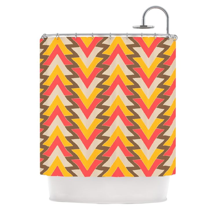 orange and brown shower curtain. Julia Grifol  My Triangles in Red Orange Brown Shower Curtain Best 25 shower curtains ideas on Pinterest