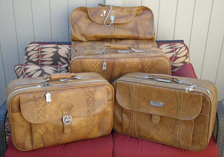 Vintage 1978 American Tourister 4 Piece Luggage Set American Tourister Luggage Sets Bag Dress