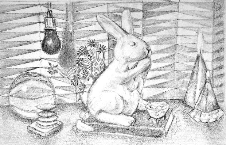 Ejercicios para libro de dibujo/Mis paraísos artificiales /Lápiz sobre papel por Jessica Millan G