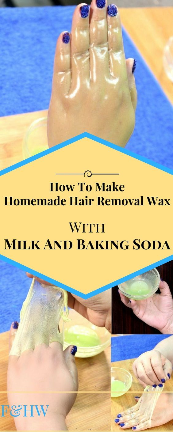 How to make homemade hair removal wax with milk and baking soda