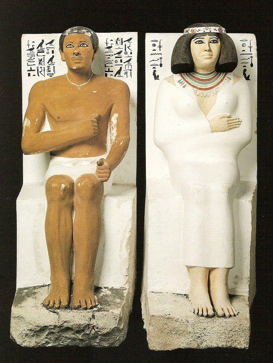 Análisis y comentario en Historia del Arte: Príncipe Rahotep y su esposa Nofret