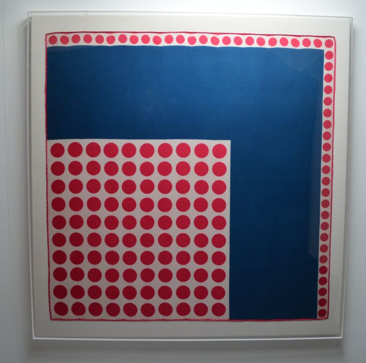 HARRODS  Blue Red Dots 86 x 88cm £500