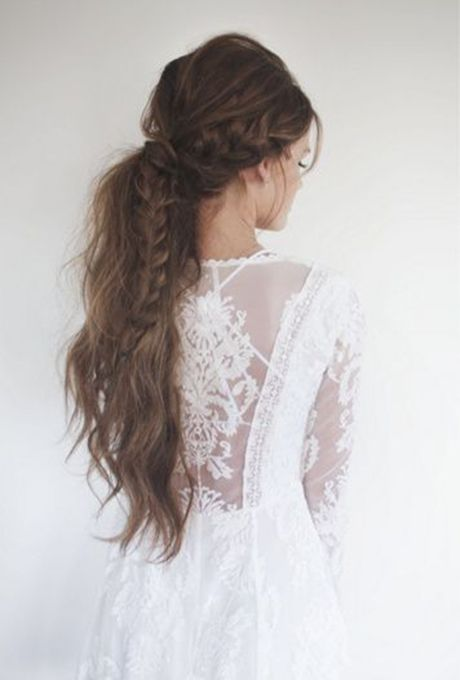 Brides.com: . This texturized, braided ponytail by Lindsey Pengelly is a bohemian bride's dream! It had the volume, the ultra-romantic plaits and, of course, long luscious locks.