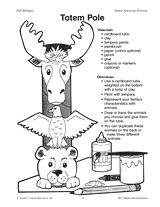 free printable children's totem pole patterns | Totem Pole