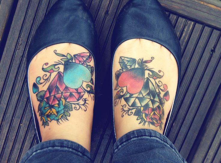 Phil Kyle Diamond Rose Old School Tattoo Diamond Tattoos