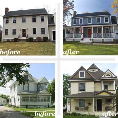 30 best before after exterior renovations images on for Exterior renovations before and after