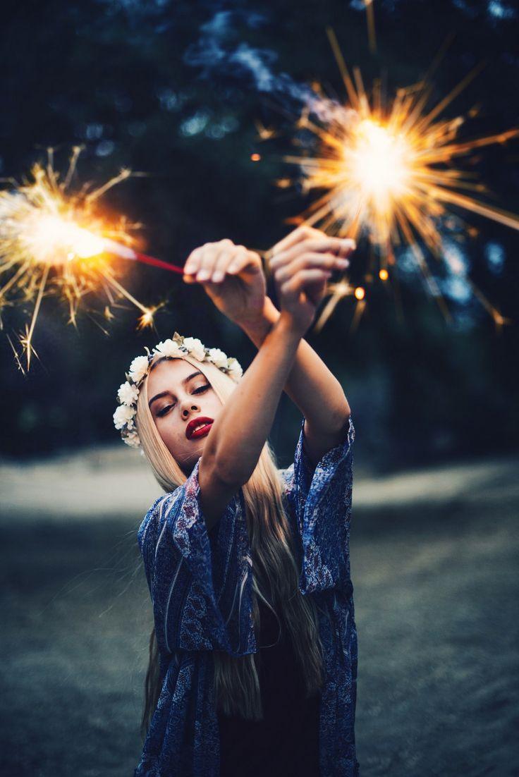American Patriotic Sparklers photoshoot