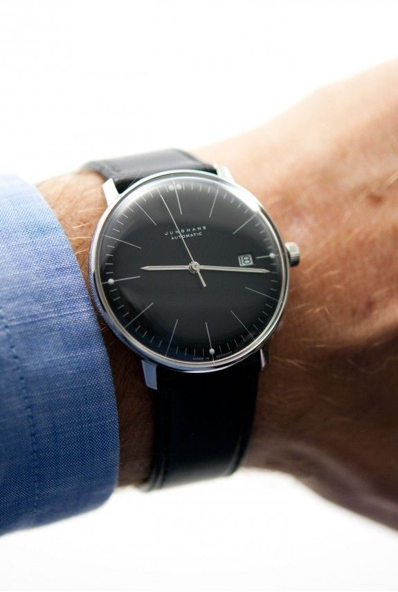 Max Bill Black with date #maxbill #watches #junghans