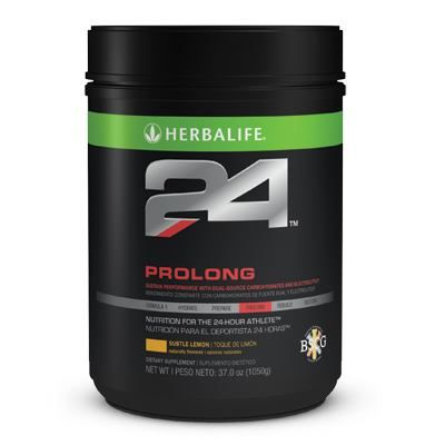 Infos and Orders at: www.goherbalife.com/goherb H24 PROLONG:Sustain performance with dual-source carbohydrates& electrolytes. A dual-source blend of maltodextrin and low glycemic fructose facilitates carbohydrate utilization -A 12:1 carbohydrate-to-protein ratio with ultrapure whey protein isolate helps reduce muscle breakdown during exercise -Bioavailable electrolytes help maintain a cellular environment for proper muscle contraction -B Vitamins support carbohydrate metabolism -500% daily