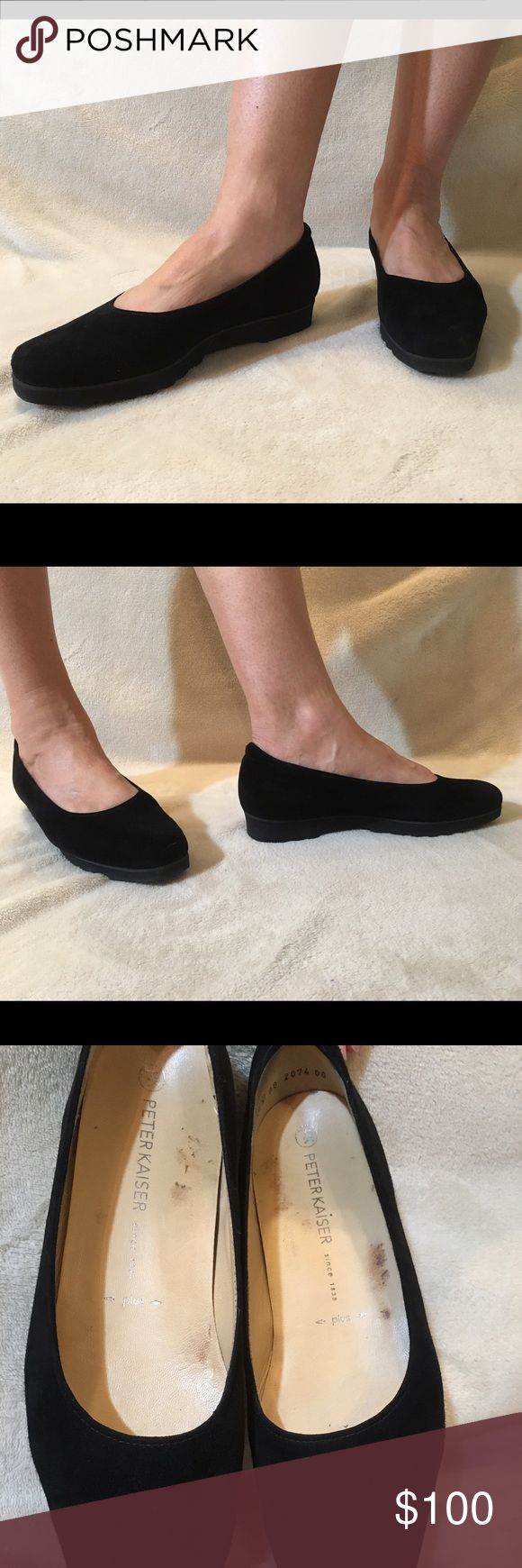 Peter Kaiser flats Super comfy black Peter Kaiser flats that will go with virtually anything. They say 6 1/2 but I am a 9 and they fit me. Peter Kaiser  Shoes Flats & Loafers