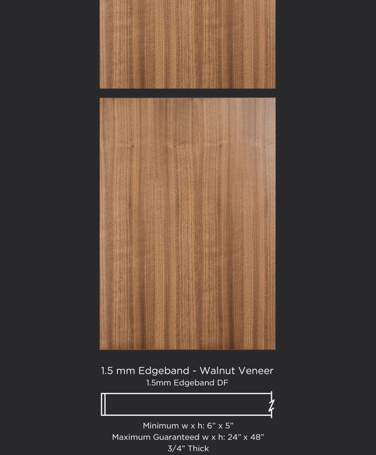 Modern walnut slab veneer cabinet door by TaylorCraft Cabinet Door Company http://taylorcraftdoor.com