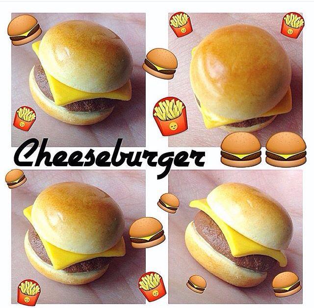 DIY Fimo !Cheeseburger en Fimo