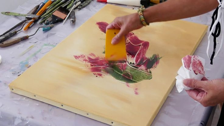 Abstract Painting Demo / Relaxing Demo / Acrylic / Art Therapy / Spatula – YouTube