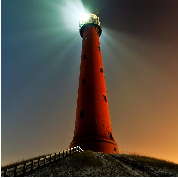 Lighthouse, West coast of Holland, January 26th 2010 | Photo by Judith Schluter