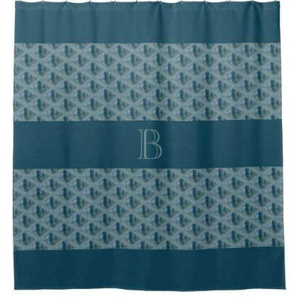 monogram with aqua seashell shower curtain beach seashell gifts ocean