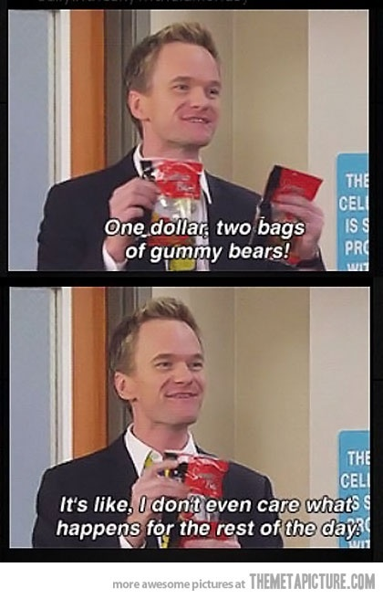 I can officially start pinning funny things from How I Met Your Mother because I saw it for the first time the other day. It was hilarious.
