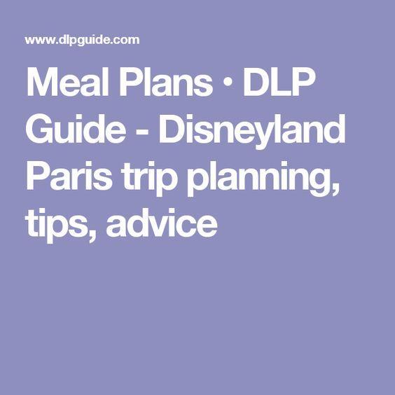Meal Plans • DLP Guide - Disneyland Paris trip planning, tips, advice